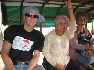 Trevor traveling local-style in Cambodia