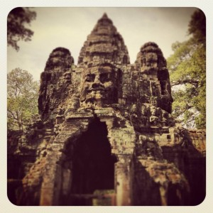 Gate of Angkor Thom: Angkor Temples in Cambodia