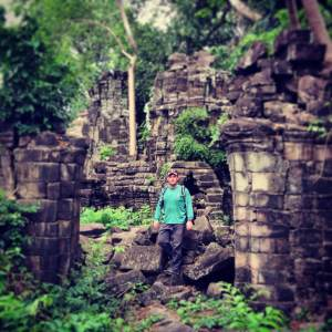Scott at Bantaey Chhmar, Cambodia