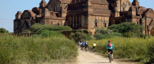 Cycling at Bagan, Myanmar; courtesy Grasshopper Adventures