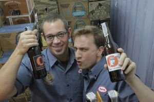The brains(?) behind Beervana: Brian & Aaron