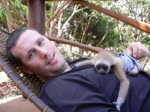 Scott Gets a Gibbon Guardian in Favor of Pillow Pets at Highland Farm