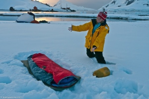 Finding a bed in Antarctica