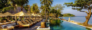 One of Qunci's 3 pools, Lombok