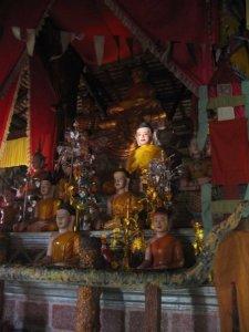Buddha in Vihear atop Phnom Bok at Sunrise