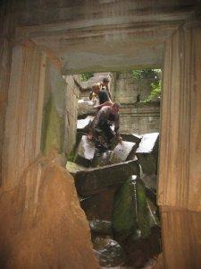 Playing Tomb Raider at Beng Mealea