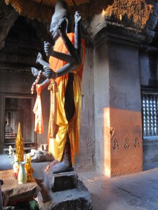 Ta Reach Vishnu at Angkor Wat at Sunset