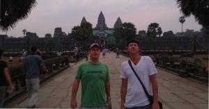 Scott & Trevor after sunrise at Angkor Wat