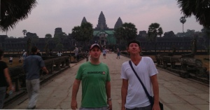 Scott & Trevor after sunrise at Angkor Wat