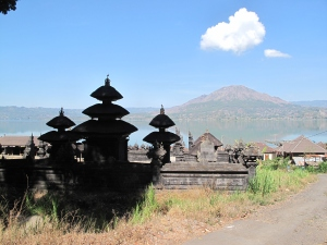 Mount Batur from Trunyan temple Pura Jagat on Talk Travel Asia Podcast
