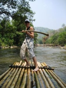 Trevor Bamboo Rafting North of Chiang Mai
