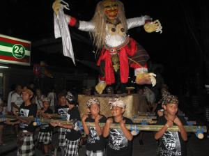 Kids carry Ogoh Ogoh before Nyepi celebration. on Talk Travel Asia podcast