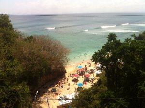 Surf beach Padang Padang on Bali's Bukit Peninsula on Talk Travel Asia Podcast