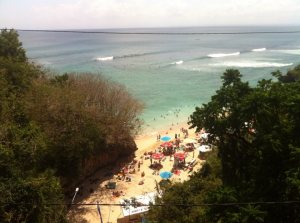 Surf beach Padang Padang on Bali's Bukit Peninsula on Talk Travel Asia Podcast