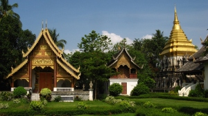 Chiang Mai Temple on Talk Travel Asia podcast with Scott Coates and Trevor Ranges