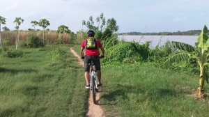Cycling at Mekong Island