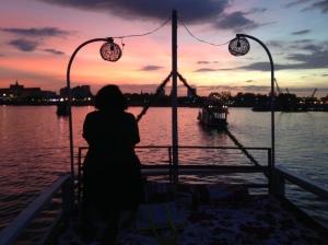 Sundown on the Mekong River