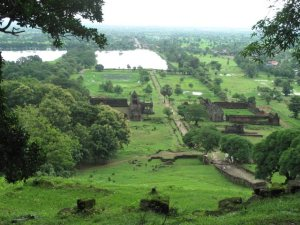 View from Wat Phou