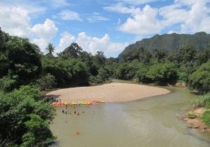Kayaking on Borneo
