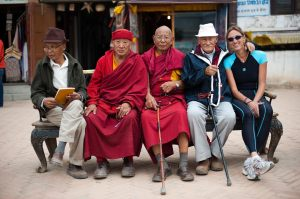 Hanging with locals in Kathmandu; photo courtesy Alex Treadway