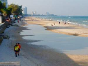 Looking north on Hua Hin's sweeping 5.5km-long main beach