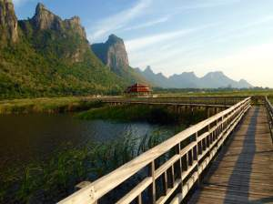 Thailand's largest swamp at Khao Sam Roi Yot National Park