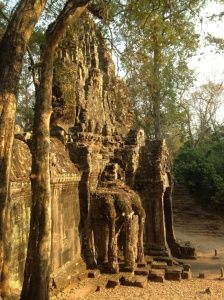 One of Angkor Thom's five mighty gates, Cambodia