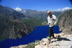 Robin on the Great Himalaya Trail; courtesy Robin Boustead