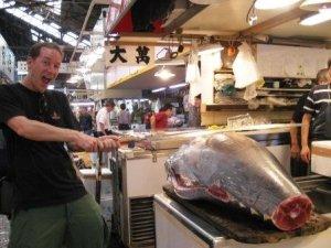Trevor Ranges at Tsujiki Fish Market, Tokyo on Talk Travel Asia Podcast, episode 54: Impressions of Japan