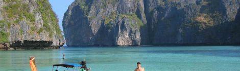 Trevor Ranges at Maya Bay Phi Phi Thailand for Talk Travel Asia Podcast