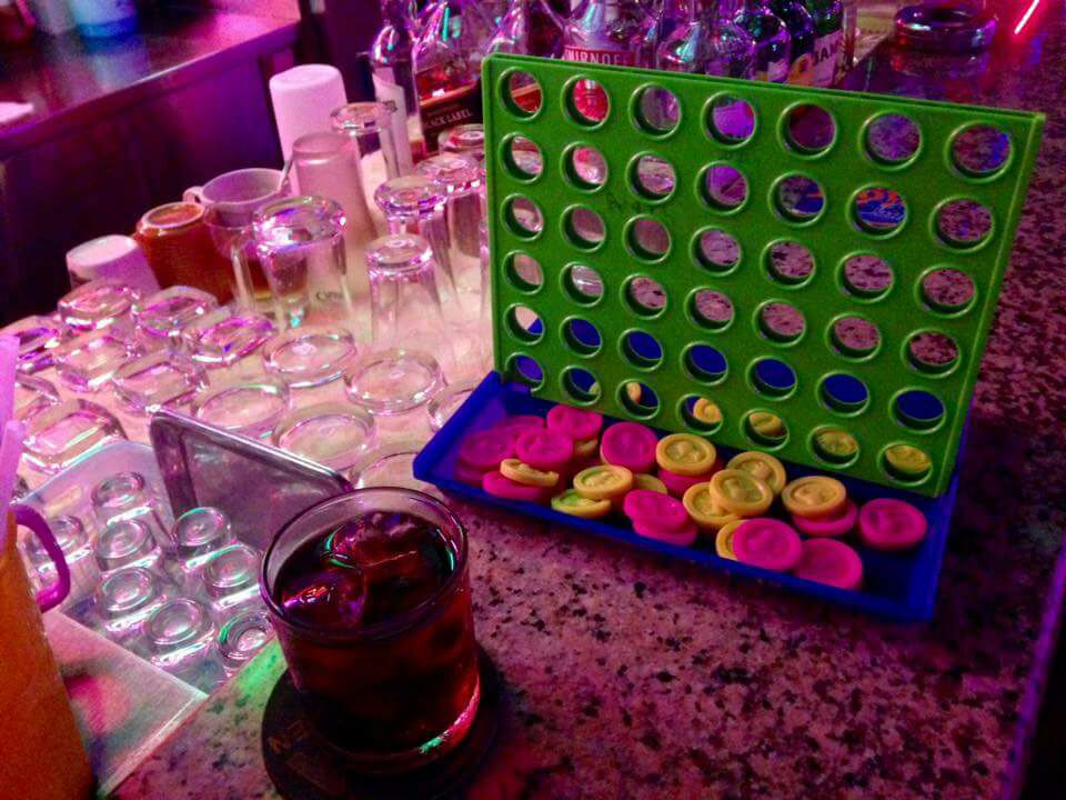Connect 4 in Bar Games Olympics on Talk Travel Asia Podcast episode 58