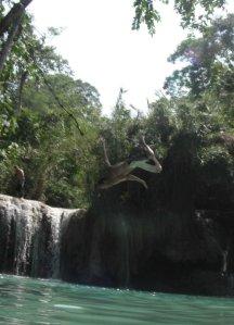 Trevor Ranges getting air in Laos