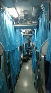 Sleeper bunk beds on Thai train