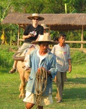 Trevor on a Buffalo: Talk Travel Asia podcast episode 66: Animal Experiences in Asia
