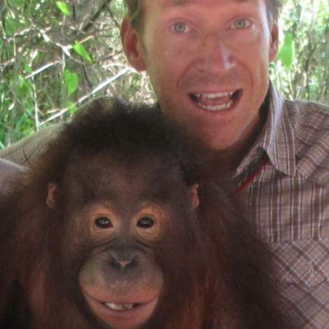 Trevor and Orangutan: Talk Travel Asia podcast episode 66: Animal Experiences in Asia