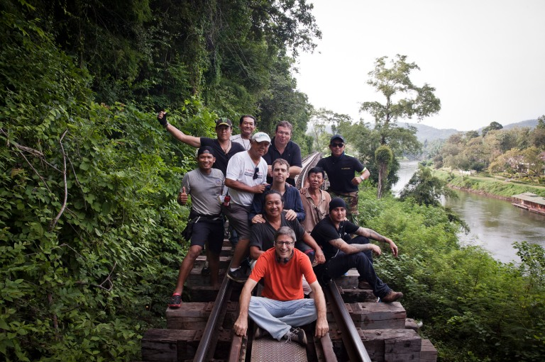"""On the set of On the set of""""Hard Target II"""" for Universal Studios. Photo courtesy of Chris Lowenstein for Talk Travel Asia Podcast: Famous Thai Film Locations"""