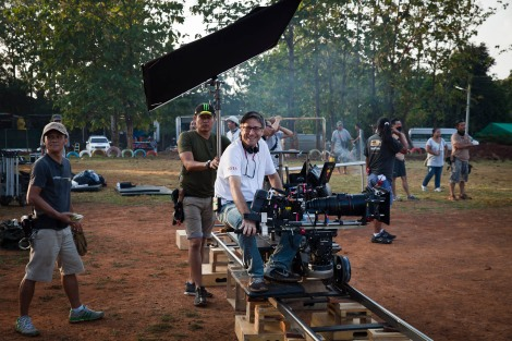 "On the set of On the set of ""Hard Target II"" for Universal Studios. Photo courtesy of Chris Lowenstein for Talk Travel Asia Podcast: Famous Thai Film Locations"