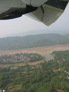 Peninsular Luang Prabang from the air