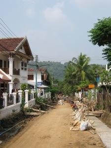 Luang Prabang Roads get a facelift in 2006