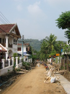 Luang Prabang Roads get a facelift in 2006
