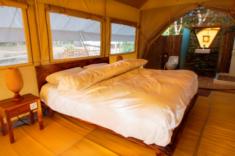 Cardamom Tented Camp Bedroom Interior