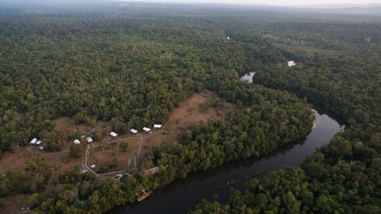 Cardamom Tented Camp from the Air