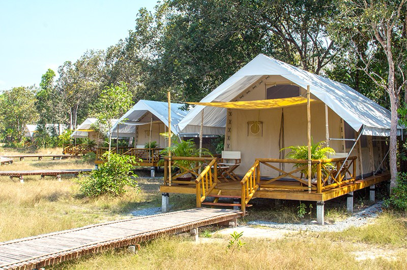 Cardamom Tented Camp exterior tents