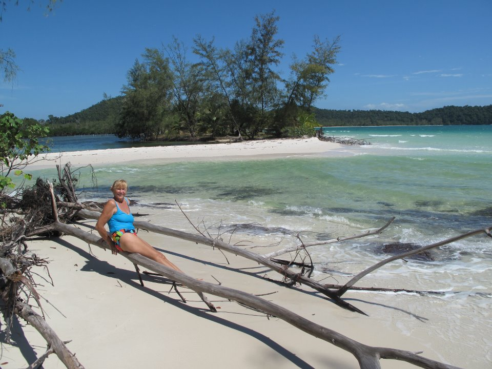 Koh Rong beach in Cambodia on Talk Travel Asia podcast