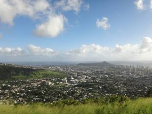 Manoa Waikiki and Diamond Head from Tantalus