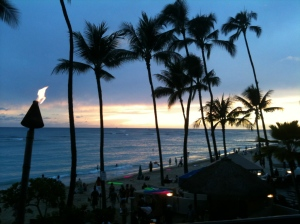 Sundown at Waikiki Oahu on Talk Travel Asia Podcast Episode 80: Almost Asia, Hawaii for First Time Visitors