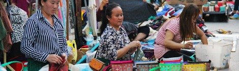 Market in Laos on Talk Travel Asia podcast shopping in Asia