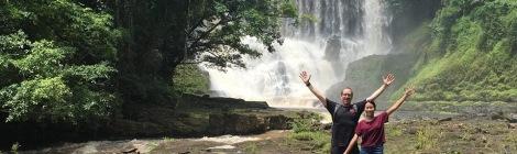 Trevor & Banksy at Bousra Waterfall Mondulkiri, Cambodia