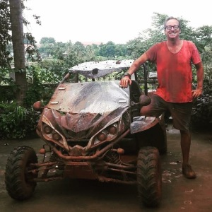 Trevor gets muddy in Ratanakiri Cambodia