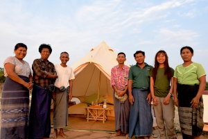 Sleep in tents and experience local culture, courtesy of Living Irrawaddy Dolphin Project on Talk Travel Asia Podcast